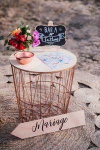 image indiquant un bar à tattoo au mariage