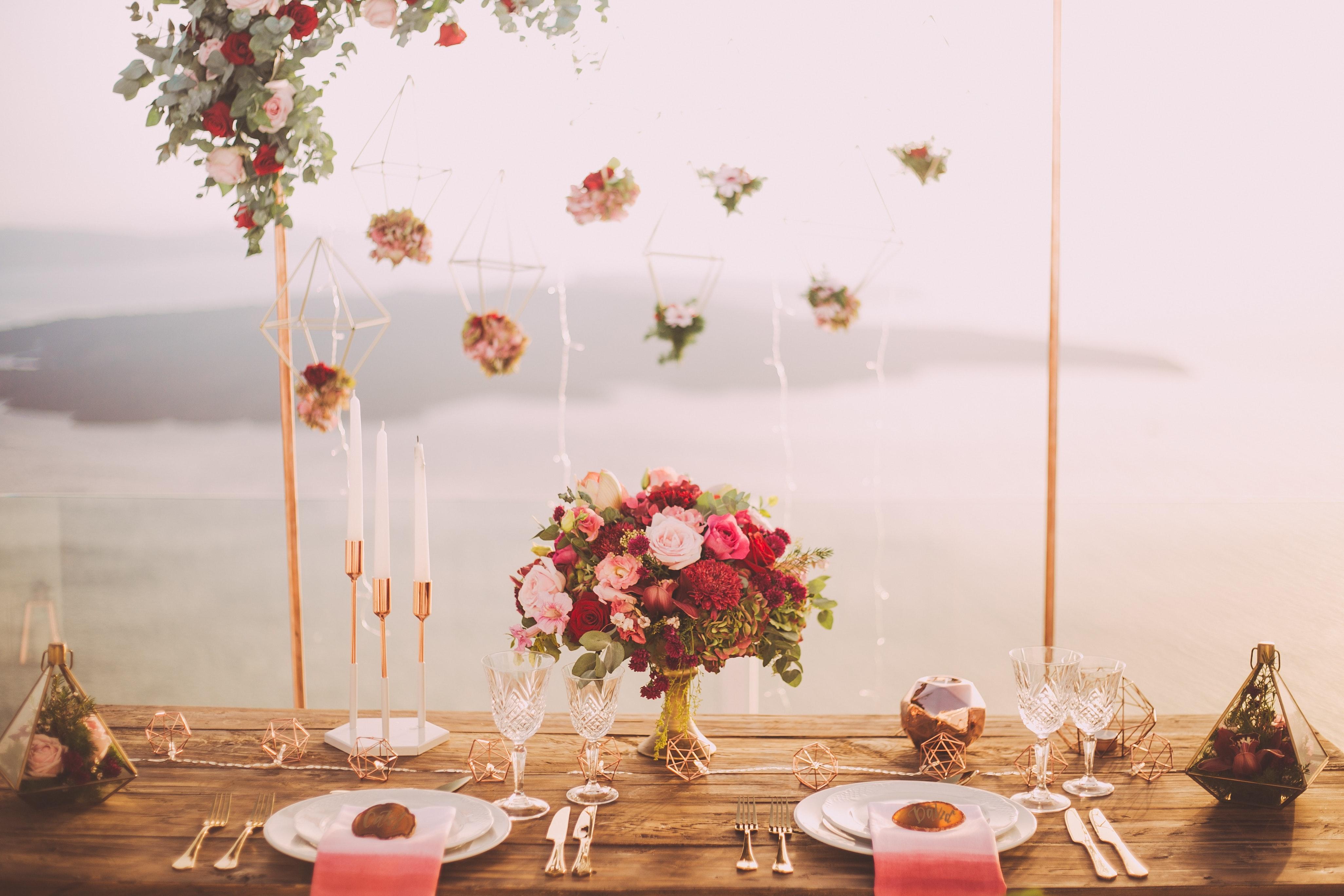 image indiquant une table de mariage thème champêtre